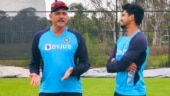 India in Australia: Ravi Shastri seen in the nets with Shreyas Iyer, calls him 'the cheeky sort'