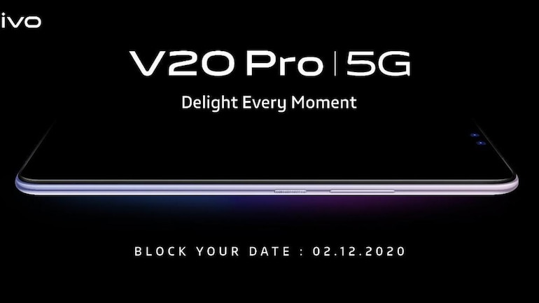 Vivo V20 Pro confirmed for December 2 India launch