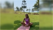 Ankita Konwar does post-run stretches in new workout video. Milind Soman hearts it