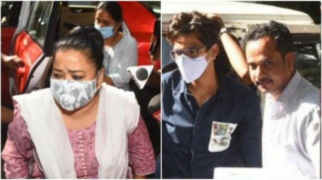 Bharti Singh, Haarsh Limbachiyaa at NCB office for question