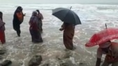 Mad rush at Andhra beach to find gold washed ashore by Cyclone Nivar
