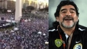 Fact Check: This massive crowd does not show the funeral procession of legendary Maradona