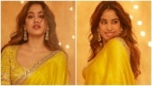 Janhvi Kapoor in classic yellow saree is elegance personified at Diwali puja. All pics