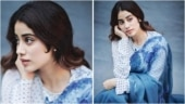Janhvi Kapoor brings back old-world glamour in Rs 49k embroidered saree. See photos
