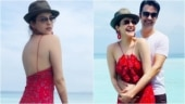 Kajal Aggarwal in Rs 13k sheer red dress is all about boho-chic vibes in the Maldives