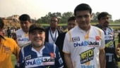 Maradona dies at 60: When Argentine legend landed in Kolkata to play charity football match vs Sourav Ganguly