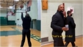 Barack Obama, in viral video, campaigns for Joe Biden with some insane basketball on the side