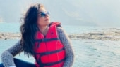 Raveena Tandon takes a boat out on a mountain lake in gorgeous new pics. Fans love