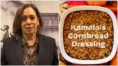 Kamala Harris shares her Thanksgiving recipe of Cornbread Dressing. It's yummy