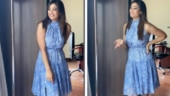 Shweta Tiwari is all smiles in sleeveless blue dress, bas yun hi