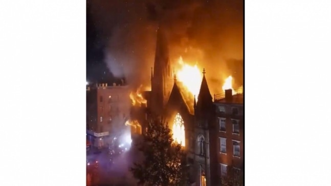 WATCH | Fire guts New York church home to iconic Liberty Bell