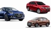 Top 3 best-selling compact sedans of November 2020: Maruti Suzuki Dzire, Honda Amaze, Hyundai Aura