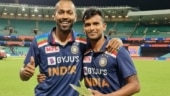Hardik Pandya gives away his Man of the Series trophy to T Natarajan, says 'You deserve it bhai'