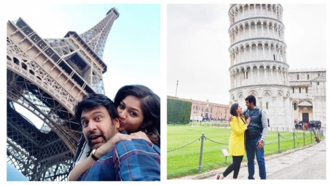 Meghana Raj and Chiranjeevi Sarja's throwback pics from Europe is all about love