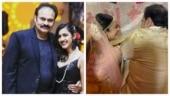 Niharika with dad Naga Babu, minutes before her wedding. See adorable pic