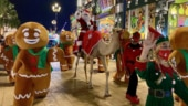 Santa arrives on camel instead of reindeer sleigh in Dubai for Christmas celebrations