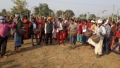 Villagers protest against establishment of police camp in Jharkhand's Giridih