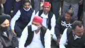 Akhilesh Yadav detained in Lucknow after he sat on dharna to join UP farmers' protest