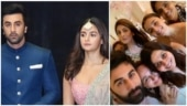 Ranbir Kapoor and Alia Bhatt pose with their families in pic shared by Riddhima