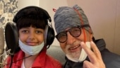 Amitabh Bachchan poses with granddaughter Aaradhya during a jam session. See pic