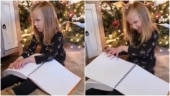 Visually-impaired girl receives braille Harry Potter books on Christmas. Viral video
