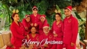 Malaika Arora and family wish Merry Christmas in matching red night suits