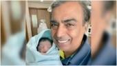 Mukesh Ambani is all smiles in viral first pic with Akash Ambani and Shloka's son