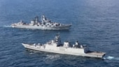 Indian Navy carries out exercise with Russia on Navy Day