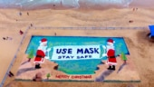 Sudarsan Pattnaik creates 3D Christmas sand art to spread awareness about Covid-19