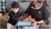 Sania Mirza teaches son Izhaan all about traffic signal boxes. Cute viral video
