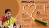Smriti Irani Instagrams viral graphic of Boroline. Your blast of nostalgia
