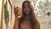 Suhana Khan nails an all-brown look. Bhavana Pandey and Maheep Kapoor react