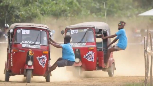 Fact check: this exciting race between car rickshaws does not come from India