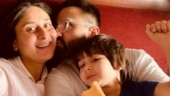 Kareena Kapoor in Rs 4k lounge set looks gorgeous in family pics with Saif and Taimur