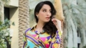 Nora Fatehi in co-ord blouse and skirt sets fashion goals. See pic