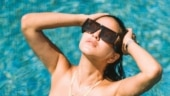 Sunny Leone in peach swimsuit raises the temperature with new pool pics