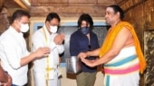 KGF star Yash visits Tirunallar temple in Tamil Nadu with Karnataka Deputy CM. All pics