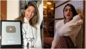 Hina Khan receives silver button from YouTube. Mrunal Thakur has this to say