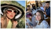 Hina Khan is chilling with boyfriend Rocky Jaiswal and friends at a vineyard. See pics
