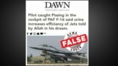 Fact Check: Fake news of Pakistan pilot urinating in F-16 cockpit shared as Dawn report