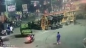 Drunk driver runs amok with loaded truck on Delhi-Jaipur road, kills 3 bikers, horrific video records incident
