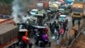 Haryana Police uses water cannons, teargas shells in Rewari to halt farmers' advance to Delhi