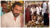 Suriya attends his fan club member Hari's wedding. See viral pics