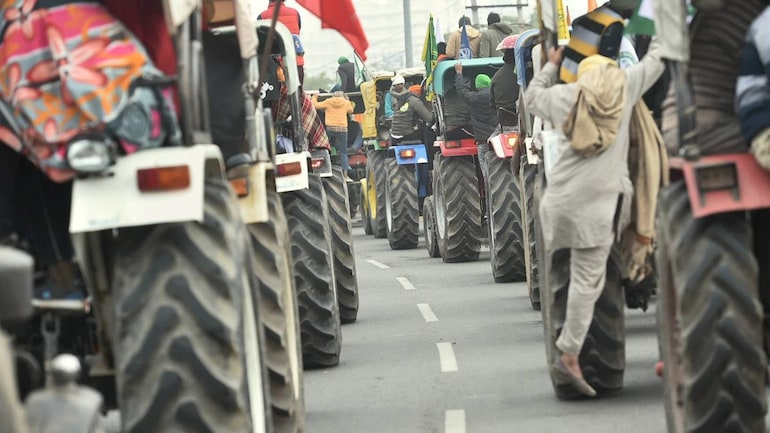 [REPRESENTATIVE IMAGE] Farmers protesting against Centre's farm laws taking out a tractor rally in Sonipat on January 7