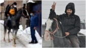 Amazon delivery boy rode a horse to drop off parcels in snowfall. Read full story