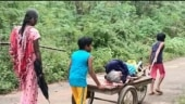 Twins help 70-year-old woman get pongal hamper, carry her on pushcart in Tamil Nadu