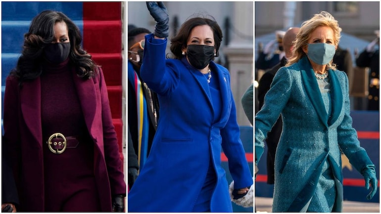 On Inauguration Day 2021, Kamala Harris, Michelle Obama, and colours stood  out - Lifestyle News