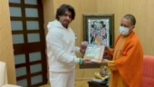 Sonu Nigam meets UP Chief Minister Yogi Adityanath at his residence in Lucknow