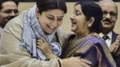 Smriti Irani remembers Sushma Swaraj on birth anniversary with emotional note. Read here