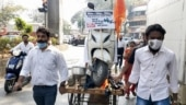 Shiv Sena protests over rising fuel prices in Maharashtra; BJP over electricity bills